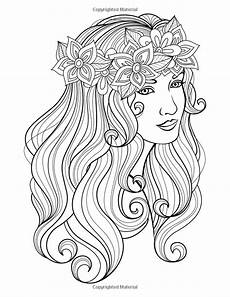 coloring pages of peoples hair 17841 amazonsmile faces coloring book for grown ups 1 volume 1 9781517023997 nick snels books