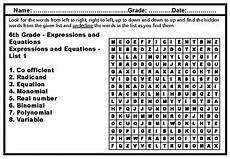 6th grade math word search worksheets by swati sharma tpt