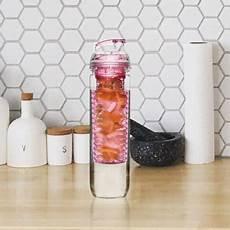 fresh flasche mit fr 252 chteeinsatz pink kaufen
