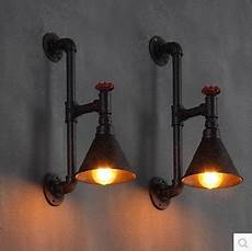 60w industrial pipe l vintage wall light for home in