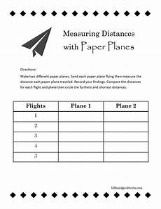 paper airplane science worksheets 15715 measuring distance with paper planes amelia earhart day paper plane airplane activities