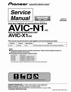 pioneer avic n1 avic x1 crt3221 service manual download schematics eeprom repair info for
