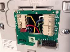 honeywell wiring diagrams yellow green blue and wires thermostat where can i connect the c wire on the a c side home improvement stack exchange