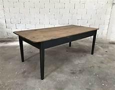 ancienne table de ferme en pin patine