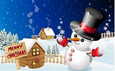 merry christmas winter snow houses with snowman desktop hd wallpaper for mobile phones