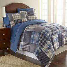 micro flannel smokey mt plaid 3 piece comforter set full