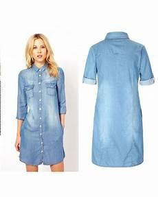 robe chemise denim femme