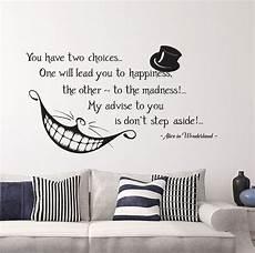 in wonderland quote wall vinyl decals cheshire cat