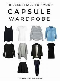 capsule wardrobe 10 capsule wardrobe basics the blissful mind