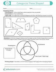 categorizing polygons worksheet 7963 5th grade geometry worksheets free printables education