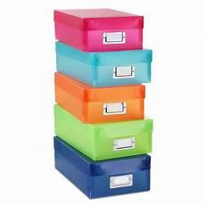 set of 5 plastic document boxes multicolor shop your