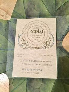 Lord Of The Rings Wedding Invitations