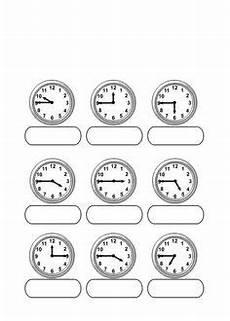 Malvorlagen Uhr Schreiben Blanko Arbeitsblatt Uhrzeiten Lernen