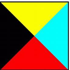 gelb rot blau schwarz gelb rot blau dreiecke ausmalbild malvorlage gemischt