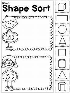 sorting 3d shapes worksheets 7889 kindergarten 2d and 3d shapes worksheets by my teaching pal tpt