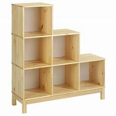 meuble casier en escalier etag 232 re escalier en pin logo 6 casiers vernis naturel