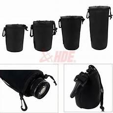 4pcs Soft Neoprene Lens Pouch Canon by 4pcs Neoprene Dslr Lens Soft Pouch Protector Bag S M