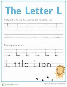 practice tracing the letter l worksheet education com
