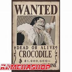 affiche one wanted crocodile