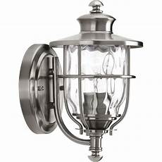 progress lighting beacon collection 1 light 6 inch stainless steel outdoor wall lantern p6024