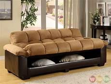 bed futon anya elephant skin microfiber brown futon sofa