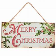 12 quot wooden sign merry christmas with holly ap8274 craftoutlet com