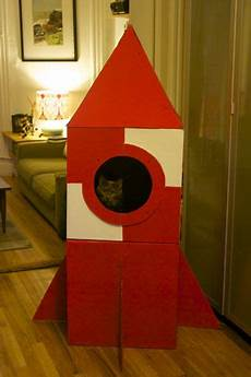 how to build a cardboard cat rocket make