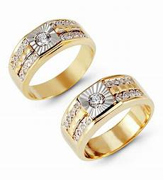 14k white yellow gold channel cz wedding ring matching wedding sets bridal jewelry