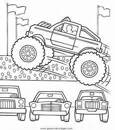 monstertruck 5 gratis malvorlage in lastwagen