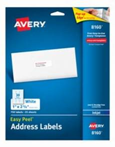 avery easy peel address labels for inkjet printers