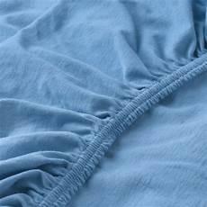 len spannbettlaken f 252 r babybett hellblau ikea schweiz