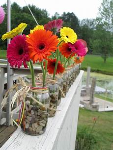gorgeous gerbera daisies in a simple mason jar for a