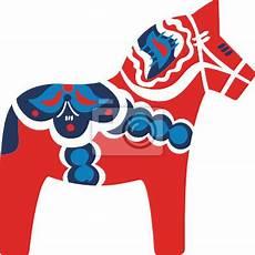dala pferd rot leinwandbilder bilder aufkommen folklore