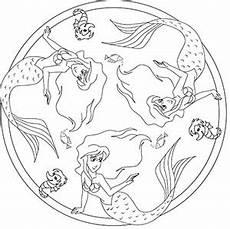 Ausmalbilder Meerjungfrau Mandala Meerjungfrau Kostenlose Mandalas F 252 R Kinder Zum Ausdrucken