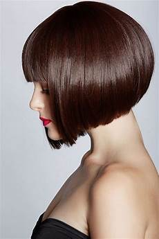 pretty inverted bob with blunt bangs styles weekly