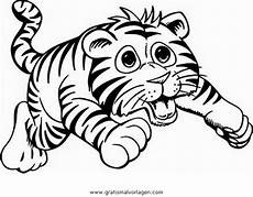Malvorlagen Gratis Tiger Tigerbaby 3 Gratis Malvorlage In Tiere Tiger Ausmalen
