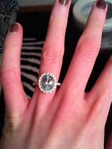 my non traditional engagement ring no band