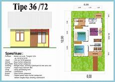 Denah Rumah Minimalis Type 36 72 Gambar Rumah Idaman