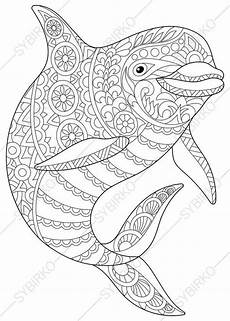 Malvorlage Mandala Delfin Coloring Pages For Adults Dolphin Coloring Pages