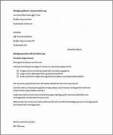 kündigung versicherung vorlage 15 k 252 ndigungsbest 228 tigung arbeitsvertrag muster car2 go
