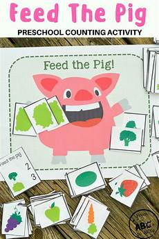 feed the pig preschool counting activity game from abcs to acts
