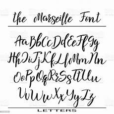 vector alphabet calligraphy letters for your