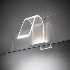 balterley cascade curved acrylic led mirror light