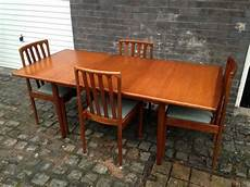 vintage 60s 70s meredew extending dining table chairs