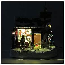 Malvorlagen Weihnachtsmann Haus Weihnachtsdorf Weihnachtsmann Haus 30x25x17cm Licht Und