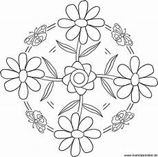 Malvorlagen Mandalas Blumen Mandala With Flowers Fr 252 Hling Mandala Mit Blumen