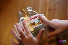 nutella glas diy etikett rotschopf aufkleben teenie