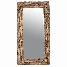 miroir rectangulaire naturel en bois flott 233 224 petit prix