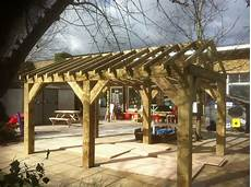 wooden garden shelter frame gazebo tub car port