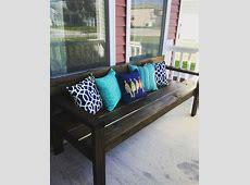 Summer front porch. DIY bench (Ana White plans)   Garage